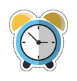 cartoon clock time alarm hour vector image vector image