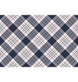 Check shirt diagonal seamless fabric texture vector image vector image