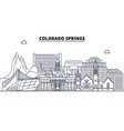 colorado springs united states outline travel vector image vector image