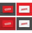 confidential envelope set vector image vector image