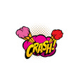 crash cartoon comic book sound cloud bubble vector image vector image