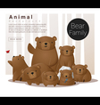 Cute animal family background with Bears vector image vector image