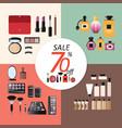 discount sale makeup design concept set vector image
