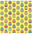 easter pattern yellow vector image vector image