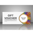 Education gift voucher template vector image vector image