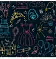 Fairy Tale Princess seamless pattern vector image vector image