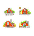 farming logo collection in line design farm barns vector image vector image