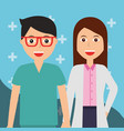 female doctor and nurse healthcare and medical vector image