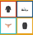 flat icon dress set of uniform stylish apparel vector image vector image