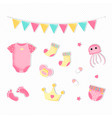 flat style for a girl bashower vector image vector image