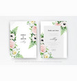 floral wedding invitation invite save date card vector image vector image