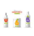 handmade cosmetic brand template packaging set vector image