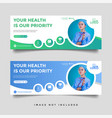 healthcare medical banner promotion template vector image