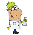 Hispanic Scientist vector image