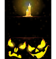 Jack o Lanterns and burning candles vector image vector image