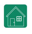 label nice house with door window and roof vector image vector image