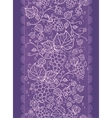 Lace grape vines vertical seamless pattern vector image vector image