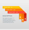 line infographic design and marketing icons vector image vector image