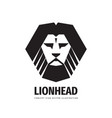 lion head - logo template creative vector image