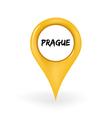 Location Prague vector image