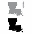 louisiana state silhouette maps vector image vector image