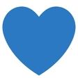 Love Heart Flat Icon vector image