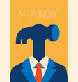 man hammer businessman instead head a vector image