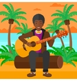 Man playing guitar vector image vector image