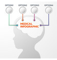 medical and healthcare template infographics vector image