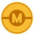 motor gold coin vector image vector image
