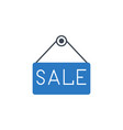 nameplate sale related glyph icon vector image vector image