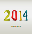 New Year card with folded colored paper vector image vector image