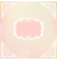 ornamental decorative blank with frame and corners vector image