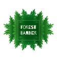 paper cut green forest kaleidoscope frame vector image