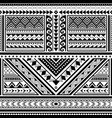 polynesian tattoo seamless pattern hawaii vector image vector image