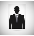 Profile picture whith tie Unknown person vector image