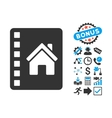 Realty Catalog Flat Icon with Bonus vector image vector image