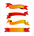 Red and gold banner vector image vector image