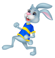 Running rabbit cartoon vector image