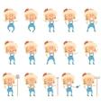set gardener women flat icons vector image vector image