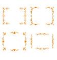 set of gold frames vector image vector image