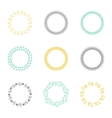 Set of silhouette circular laurel wreaths vector image vector image