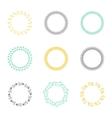 set silhouette circular laurel wreaths vector image