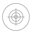 Shooting target line icon vector image vector image