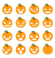 simple halloween pumpkin decoration scary faces vector image vector image