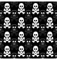Skull Cross Bones Seamless Pattern vector image vector image