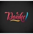 Thank You German Language Pink Lettering on vector image vector image