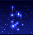 the constellation auriga in the night starry sky vector image