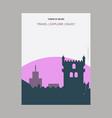 tower of belem lisbon portugal vintage style vector image