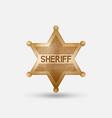 vintage bronze badge sheriff star vector image